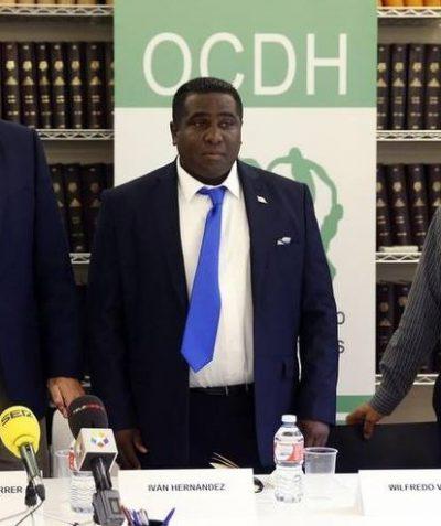 Iván Hernández Carrillo en rueda de prensa del OCDH, 2016.